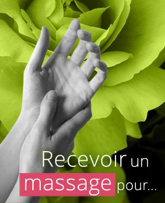 Recevoir un massage pour…